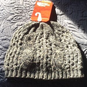 09e363ae986 The North Face Accessories - The North Face Ink Blue Cable Knit Beanie Hat